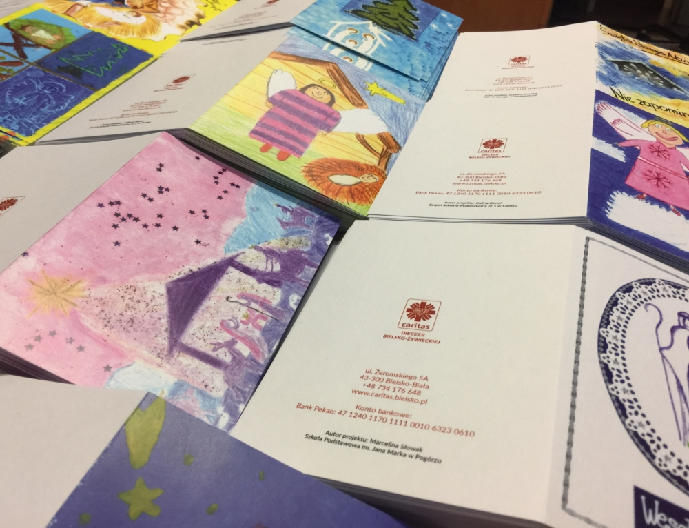 Wyślij na święta wyjątkową kartkę Caritas!