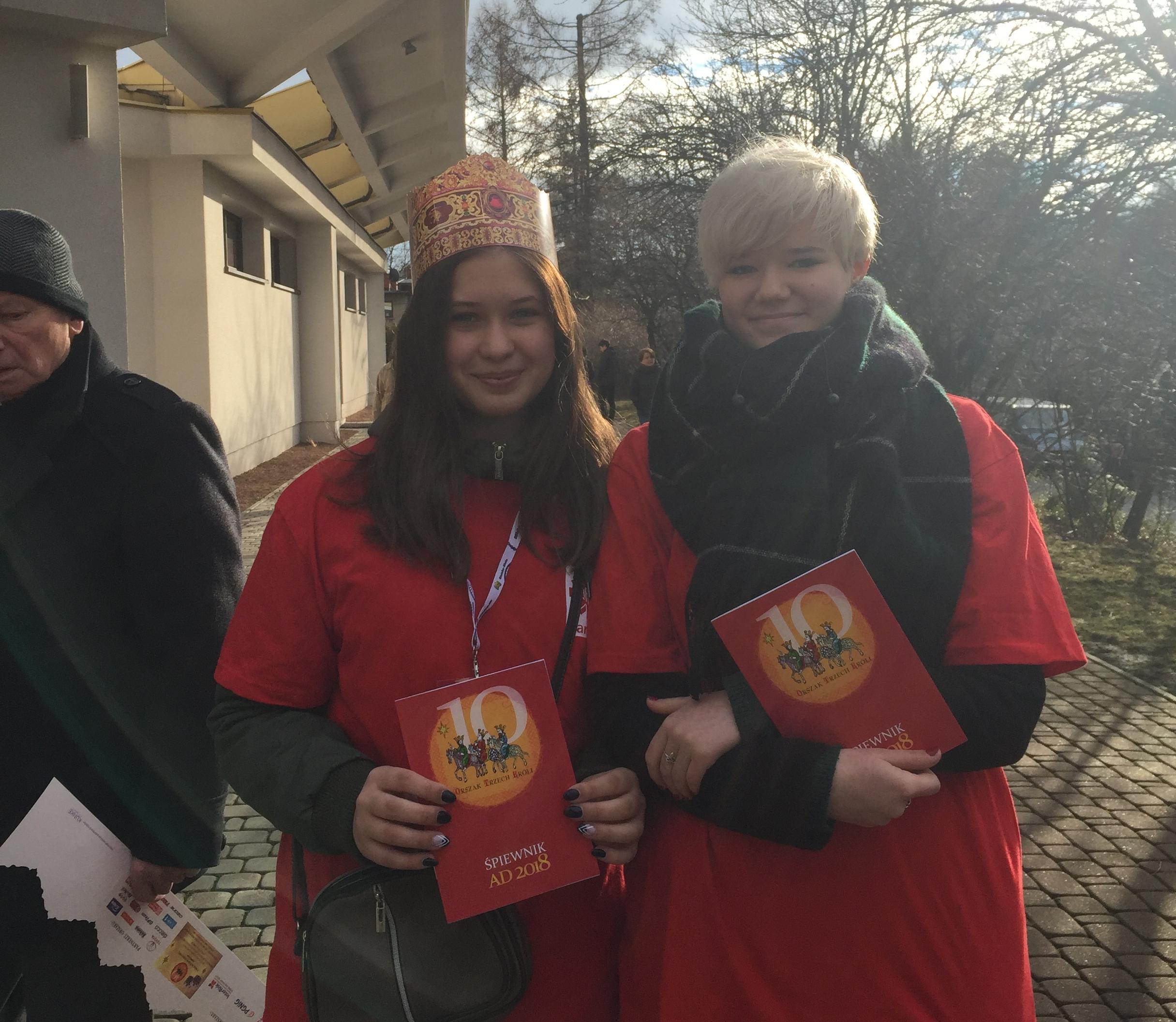 Wolontariusze Caritas na Orszaku Trzech Króli