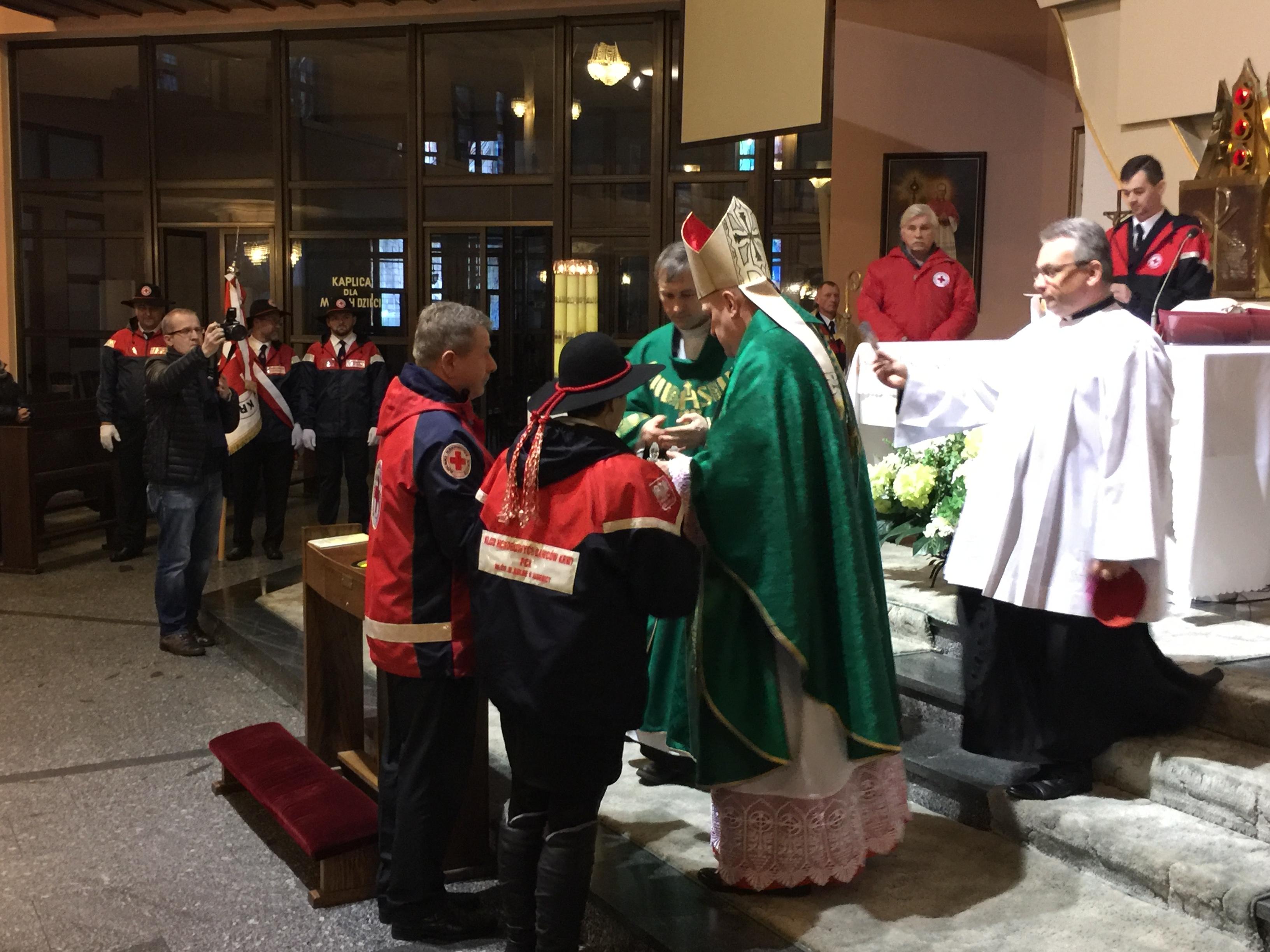 Krwiodawcy modlili się z Caritas
