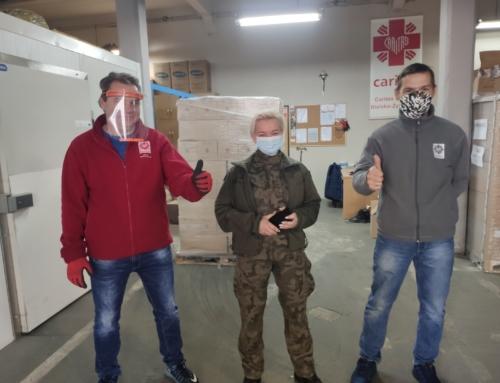 Współpraca Wojsk Obrony Terytorialnej z Caritas Diecezji Bielsko-Żywieckiej przy realizacji Programu Operacyjnego Pomocy Żywnościowej.