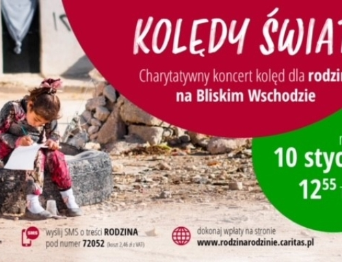 """Koncert charytatywny Caritas Polska """"Kolędy  świata"""" w TVP2."""